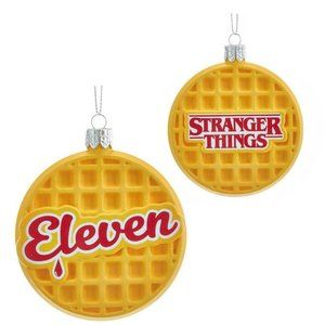 Stranger Things Eleven Waffle Christmas ornament